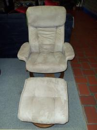 Mac Motion Mocha Recliner and Ottoman 001545 WAS: $469.99
